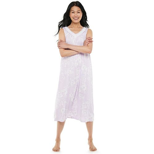 Women's Croft & Barrow® Lace-Trim Long Nightgown