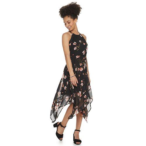 Juniors' Candie's® Handkerchief Maxi Dress