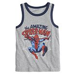 """Boys 4-12 Jumping Beans® Marvel """"The Amazing Spider-Man"""" Ringer Tank Top"""