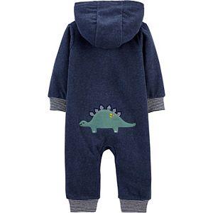 Baby Boy Carter's Dinosaur Hooded Fleece Jumpsuit