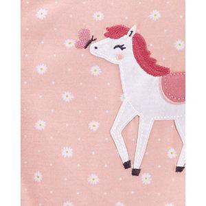 Toddler Girl Carter's 1-Piece Horse Footie Pajamas