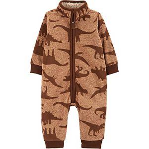 Baby Boy Carter's Dinosaur Fleece Jumpsuit