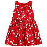 Toddler Girl Carter's Floral Twill Dress
