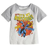"Toddler Boy Jumping Beans® Marvel Spider-Man ""Hey! It's My Birthday"" Raglan Tee"
