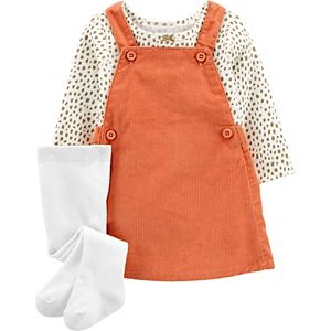 Baby Girl Carter's 3-Piece Tee & Skirtall Set