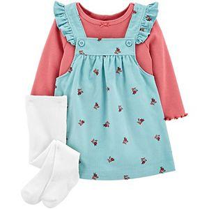 Baby Girl Carter's 3-Piece Tee & Floral Jumper Set