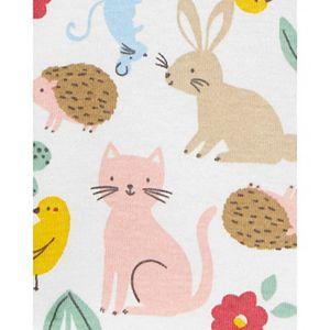Baby Girl Carter's 3-Piece Animal Print Tee & Denim Jumper Set