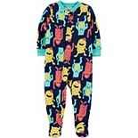 Toddler Boy Carter's Monster Fleece Footed Pajamas