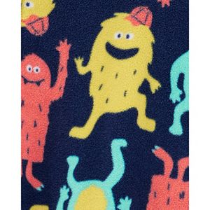 Toddler Boy Carter's Monster Fleece Footed Pajamas