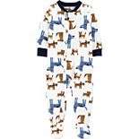 Toddler Boy Carter's Dogs Fleece Footed Pajamas