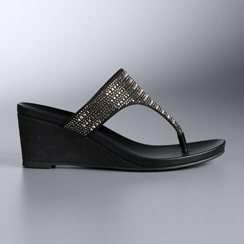 Simply Vera Vera Wang Grebe Women's Wedge Sandals