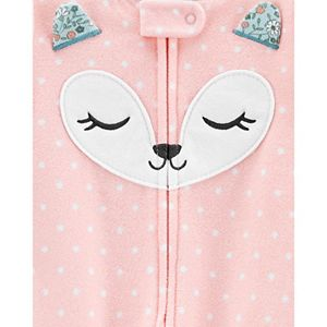 Toddler Girl Carter's Fox Fleece Footed Pajamas