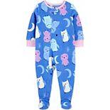 Toddler Girl Carter's Owl Fleece Footed Pajamas