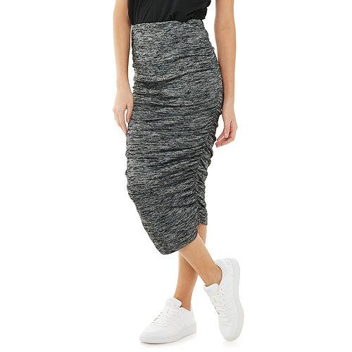 Women's Jennifer Lopez Side Ruched Pencil Skirt