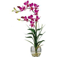 nearly natural Silk Dendrobium Floral Arrangement
