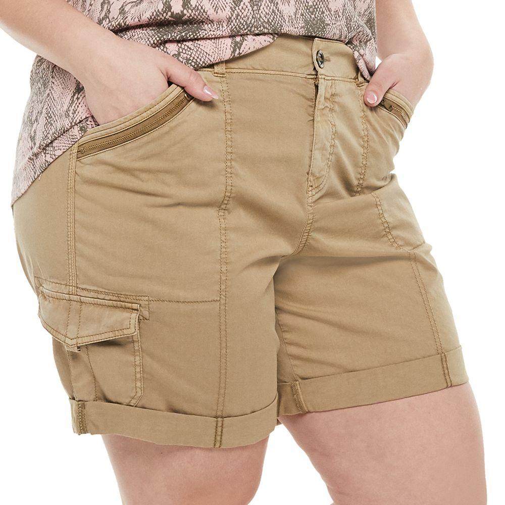 Plus Size EVRI™ Utility Bermuda Shorts
