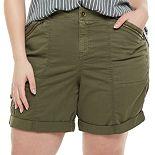 Plus Size EVRI? Utility Bermuda Shorts