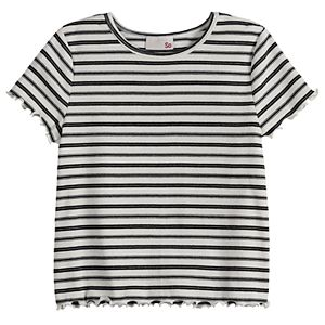 Girls 4-20 & Plus Size SO® Lettuce-Edge Tee