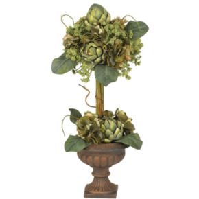 nearly natural Silk Artichoke Topiary Plant