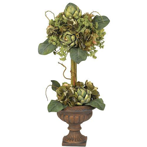 nearly natural Silk Artichoke Topiary Plant