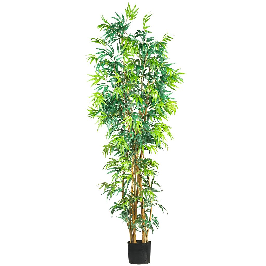 nearly natural 7-ft. Silk Fancy Bamboo Tree