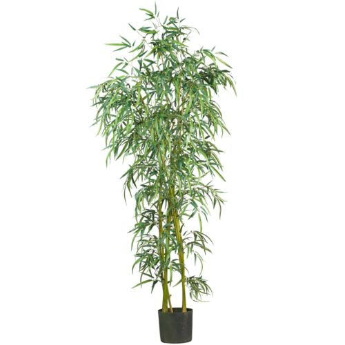 nearly natural 6-ft. Silk Fancy Slim Bamboo Tree