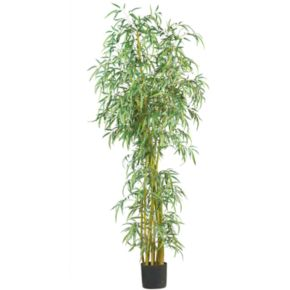 nearly natural 7-ft. Silk Fancy Slim Bamboo Tree