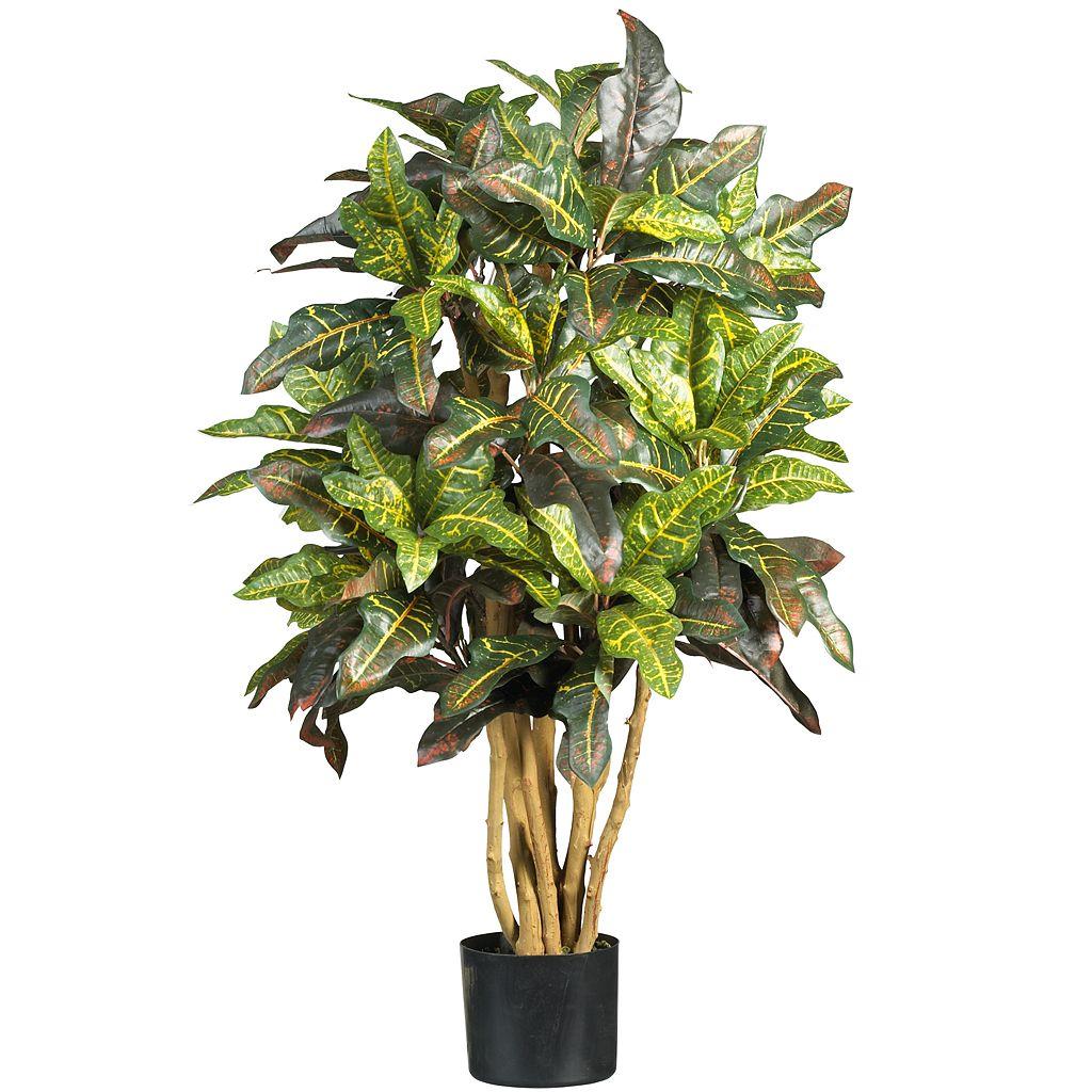 nearly natural 3-ft. Silk Croton Tree