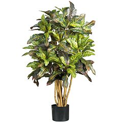nearly natural 3-ft. Silk Croton Tree