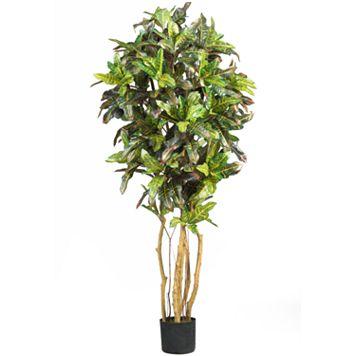 nearly natural 5-ft. Silk Croton Tree