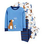 Toddler Boy Carter's 4-Piece Dogs Snug Fit Cotton Pajamas