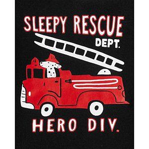 Toddler Boy Carter's 4-Piece Firetruck Pajama Set