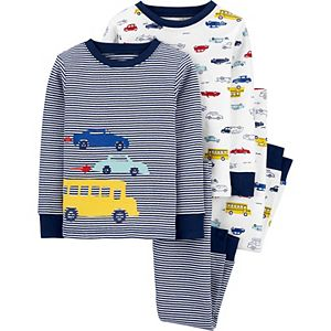 Toddler Boys Carter's 4-Piece Vehicles Snug Fit Cotton Pajamas