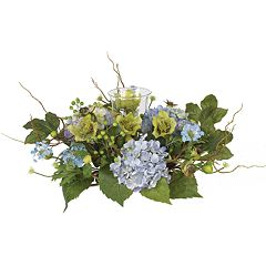nearly natural Silk Hydrangea Candelabrum Centerpiece