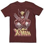 Men's Marvel X-Men Wolverine Classic Comic Vintage Graphic Tee