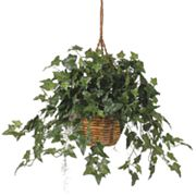 nearly natural Silk English Ivy Hanging Plant Basket