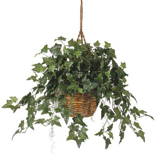 nearly natural Silk English Ivy Hanging Plant Basket