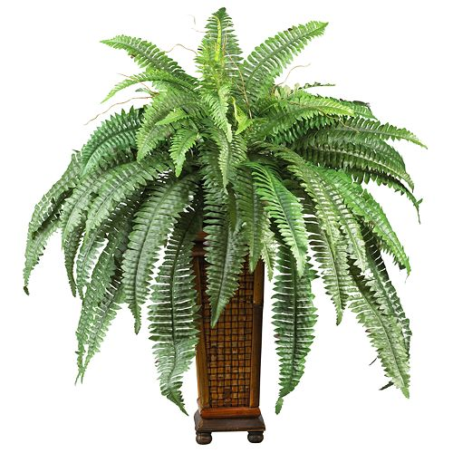 nearly natural Silk Boston Fern Plant