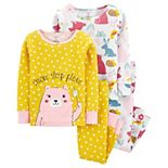 Toddler Girls Carter's 4-Piece Bear Snug Fit Cotton Pajamas