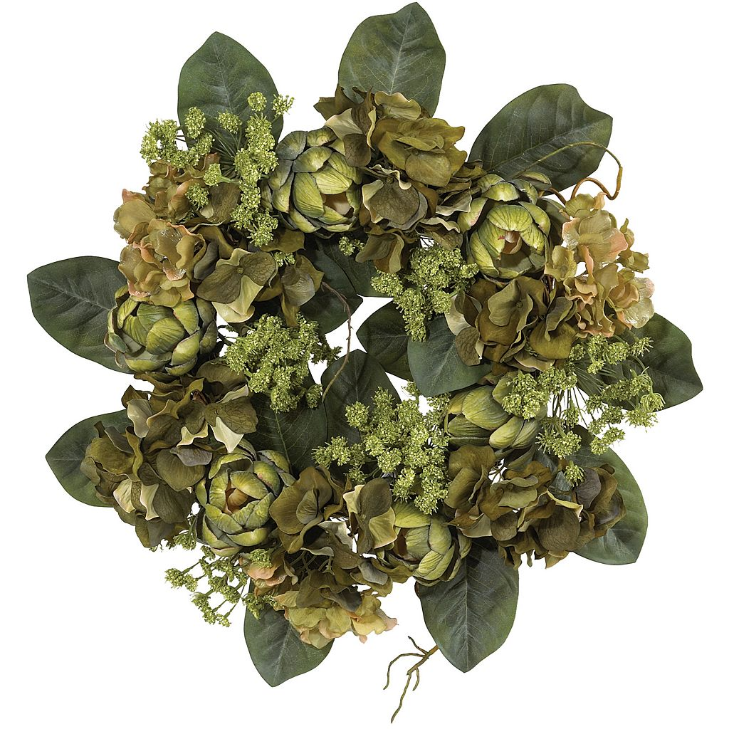 nearly natural SilkArtichoke Wreath