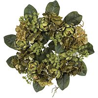 nearly natural SilkArtichoke Wreath