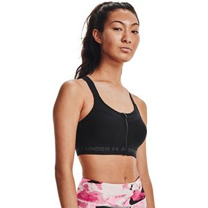 Women's Under Armour High Zip Crossback Sports Bra
