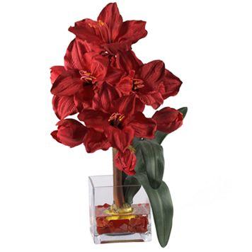 nearly natural Silk Amaryllis Floral Arrangement