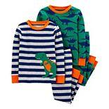 Baby Boy Carter's 4 Piece Dinosaur Striped Pajama Set