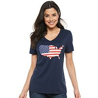 Sonoma Goods For Life Womens Patriotic Graphic Tee Deals