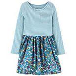 Toddler Girl Carter's Mixed-Media Dress