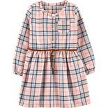 Toddler Girl Carter's Plaid Shirt Dress