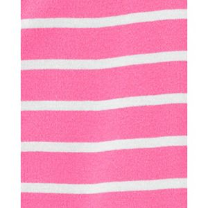 Baby Girl Carter's Striped Zip Footed Pajamas