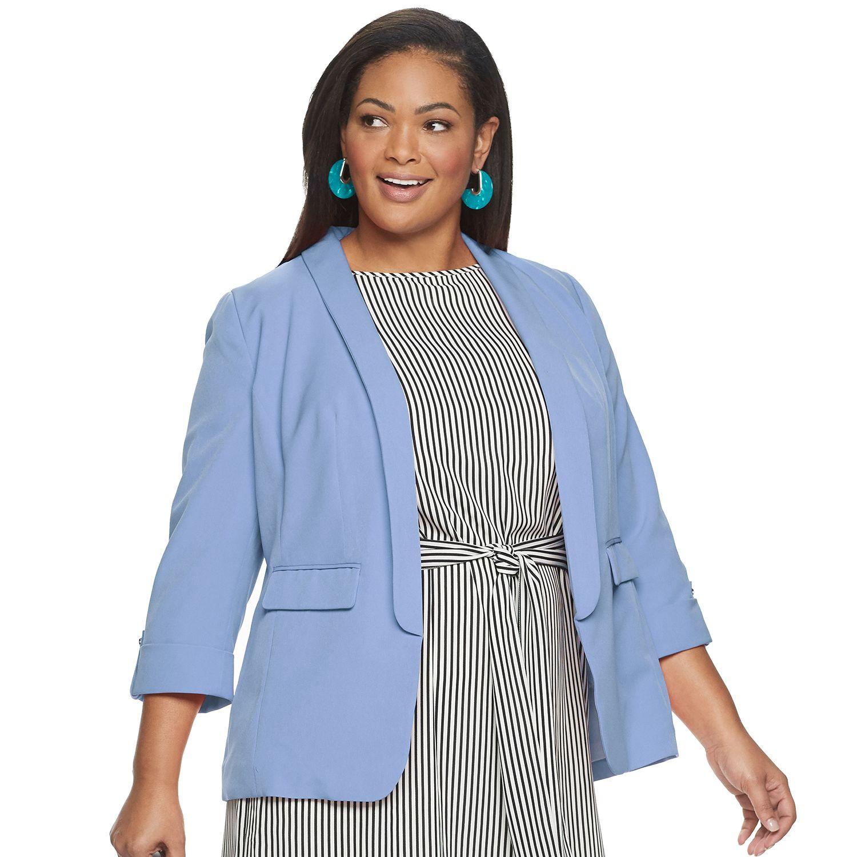 Plus Size Apt. 9® Shawl Collar 3/4 Sleeve Blazer