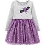Toddler Girl Carter's Halloween Bat Jersey Dress